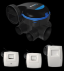 Kit VMC simple flux EasyHOME Hygro COMPACT 6 piquages Premium Micro Watt MW